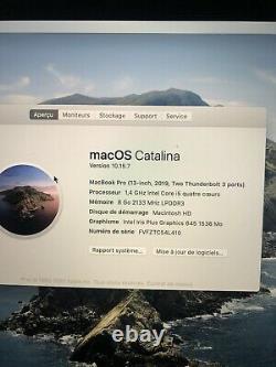 Apple Macbook Pro 13.3 (intel Core I5 8th Gen, 1.4 Ghz, 256gb, 8gb Ram)