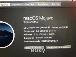 Apple Macbook Pro Retina 13.3 (128gb Ssd, Intel Core I5, 2.6ghz, 8gb)