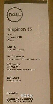 Dell Inspiron 5301 13 512gb Ssd, Intel Core I7 11th. 4.20 Ghz, 8gb