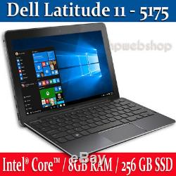 Dell Latitude 11 Touch 2 In 1 256 GB Ssd 8gb Intel Core-m5 Ram Up To 2.8 Ghz