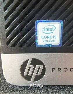 HP Prodesk 600 G3 Sff 8 GB Ram Intel Core I5 7th Gen Cpu @3.40 Ghz Ssd 256