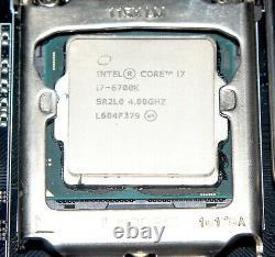 Intel Core I7-6700k Skylake 4.0 Ghz 8mo Delid - Carte Mere Msi Z170a Gaming Pro