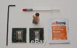2x Intel Xeon x5680 3,33 GHZ sans Ihs Six Core Pro Mac 4,1 (2009) (Matched Pair)
