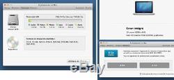 Apple MacBook Pro 13 2,9 GHz, Intel Core i7, 8Go, HD-750GO, PARFAIT ETAT