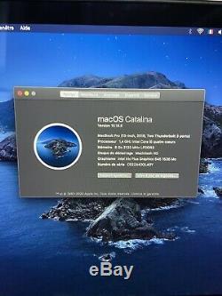 Apple MacBook Pro 13,3 (128Go SSD, Intel Core i5 8ème Gén, 3,90 GHz, 8Go)