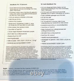 Apple MacBook Pro 13,3 2020 512Go SSD, Intel Core i5 10ème Gén, 3,80 GHz, 16Go