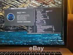 Apple MacBook Pro 15,4 Intel Core i7 2,20 GHz, 256SSD, 16 Go, batterie neuve