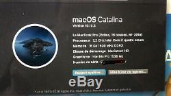 Apple MacBook Pro 15,4 (Intel Core i7-4770HQ, 2,2 GHz, 256 Go SSD, 16 Go RAM)