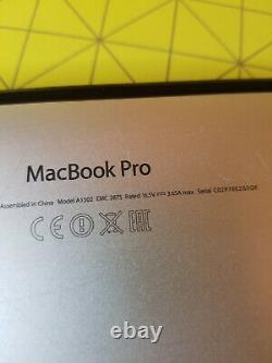 Apple MacBook Pro model 1502 Retina 13 Intel Core i5 2.8 GHz, 8 Go RAM, 256 Go