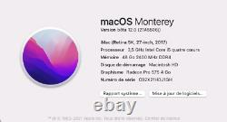 Apple iMac 27 2017 5K Retina Intel Core i5 3.5Ghz 48GB Ram 1TB Fusion Drive