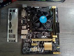 Asus H81m-k + Intel Core I3-4160 @ 2 X 3,60 Ghz + 8 Go Ddr3 + Radeon R7-240 1go