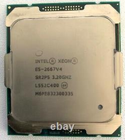 CPU Intel Xeon E5-2667v4 8-Core CPU 8x 3.20 GHZ- SR2P5 TBE fonctionne a 100%