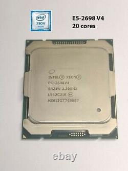 CPU Intel Xeon E5-2698 V4 2.2 GHz 20 Core 50 Mo LGA 2011-3 SR2JW Broadwell