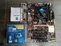 Carte Mere Asus Z87-k + Intel Core I5-4440 @ 4 X 3,10 Ghz + 8 Go Ddr3