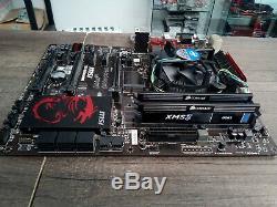 Carte Mere Msi Z87-g45 Gaming + Intel Core I5-4670k @ 4 X 3,40 Ghz + 8 Go Ddr3