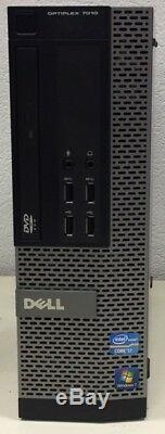 Dell Optiplex 7010 Intel Core i7 3.4 GHz / RAM 4 Go / DD 250 Go Sata / DVD-R /