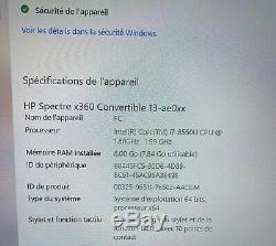 HP Spectre x360 13,3'' (Intel Core i7 8550U 1,80GHz, 8Go RAM, 256Go SSD)