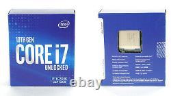 Intel Core i7-10700K Processeur (5,1 GHz, 8 Curs, Socket LGA1200, Box)