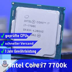 Intel Core i7-7700K (4x 4.20GHz) Kaby Lake CPU Socle 1151