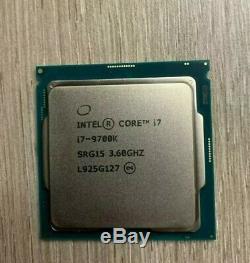 Intel Core i7-9700K 3,6 GHz NEW Octa Core LGA 1151 Processeur (BX80684I79700K)