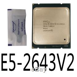 Intel Xeon E5-2643 V2 E5-2643V2 3.5GHz 6Core LGA2011 Processor