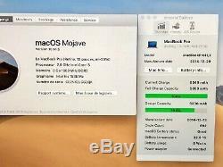 MACBOOK PRO RETINA 13 INTEL CORE i5 2,80 Ghz SSD 512 Go 2014 / 2015