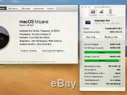 MACBOOK PRO RETINA 13 INTEL CORE i7 3,60 Ghz SSD 512 Go 2013