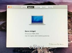 MacBook Air 13,3 de 2017 Intel Core i5 bi coeur. 1,8 GHz, 8 Go SSD128 Go