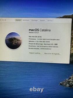Mac Mini (late 2014) Intel Core I5 1.4GHz 4GO RAM SSD 500GB + 1To FusionDrive