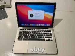 Macbook Pro 13,3 Retina / Intel Core i5 2,8Ghz / SSD 512Go / 8Go DDR3 / BigSur