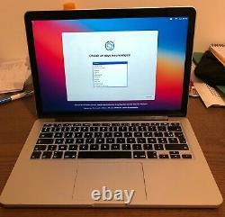 Macbook Pro 13,3 Retina début 2015 2,7GHz Intel Core i5 double coeur 256Go SSD