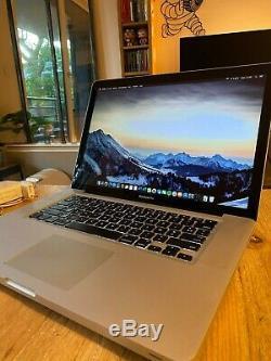 Macbook Pro 15,4 Intel i7 quad core 2,66Ghz 8Go RAM SSD 480Go