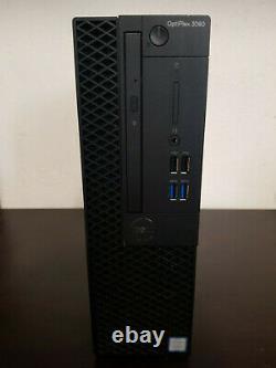 PC Dell Optiplex 3060 Intel Core i3-8100 4x3.60GHz 8Go RAM 500 Go HDD Win10 Pro