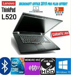 PC Portable Lenovo ThinkPad L520 Intel Core i5-2520M 2,50GHz 4Go 320Go