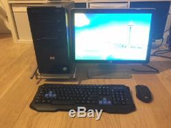 PC de bureau HP avec écran Intel Core Quad Q6600 à 2,4GHz / 4Go de RAM