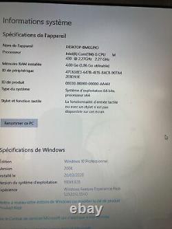 Pc portable acer aspire 7740, Intel Core I5 2,27 GHz, 4 Go De Ram Ssd 128Go