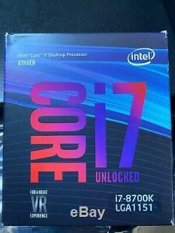 Vends processeur Intel Core i7-8700K (3.7 GHz) et carte mère MSI Z370 GAMING PRO